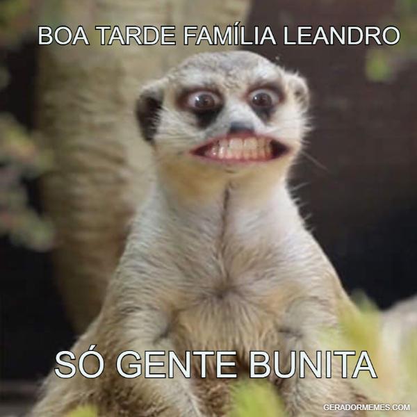 Boa tarde Familia Leandro