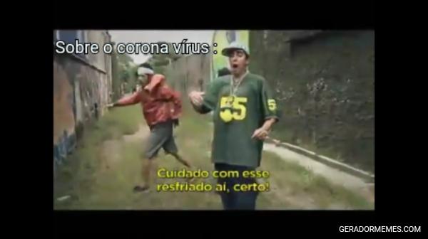 Sobre o corona vírus :